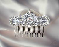 Ozdoby do vlasov - Svadobné snenie - hrebienok - 7176383_