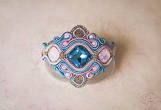 Náramky - Blue - Pink šujtášový náramok - 7176451_