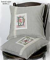 """Úžitkový textil - ľanový vankúš """"vintage journal"""" - 7175770_"""