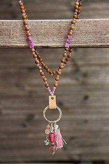 Náhrdelníky - Japa mala náhrdelník z minerálov jaspis - 7173708_