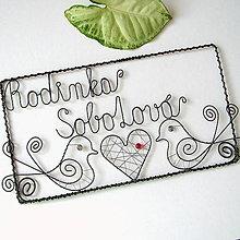 Tabuľky - svadobná tabuľka  na dvere, menovka  - väčšia - 7180088_
