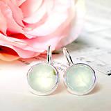 Náušnice - Elegane Faceted Prehnite Earrings / Náušnice s fazetovaným prehnitom - 7178656_