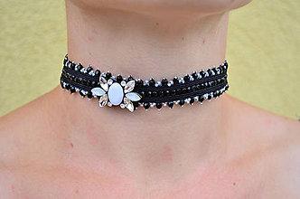 Náhrdelníky - Soutache náhrdelník Romantická Elegance - 7181938_