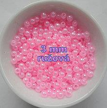 Korálky - GLANCE plast 3mm-10g - 7179460_