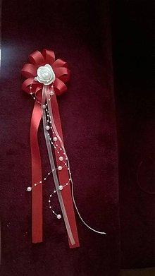 Pierka - Svadobné pierko pre starostu červené - 7180218_