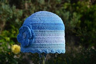 Detské čiapky - Skladom- Háčkovaná čiapka - 7181662_