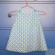 Detské oblečenie - obojstranná bavlnená zásterka/šaty, veľkosť 4 - 5 rokov - 7181604_