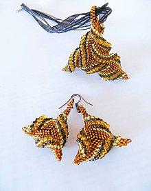 Sady šperkov - Sada trojuholníčky vo farbe medu - 7179964_