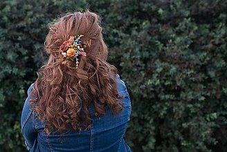 Ozdoby do vlasov - Jesenná sponka
