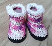 Topánočky - Ružové melírované čižmičky - 7184513_