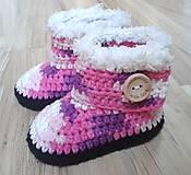 Topánočky - Ružové melírované čižmičky - 7184517_