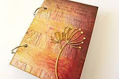 Papiernictvo - zápisník s púpavou - 7182357_