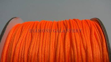 Galantéria - Shamballa šnúrka saténová 1,5 mm - Pomaranč - 7185038_
