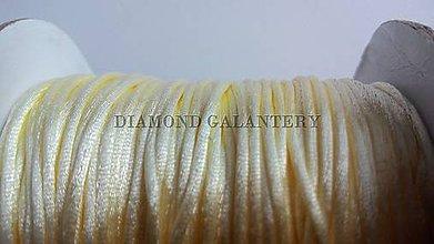 Galantéria - Shamballa šnúrky 1,5 mm saténová - krémová - 7185061_