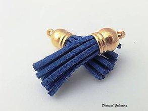 Komponenty - Strapcový prívesok - kráľovská modrá - 7185261_
