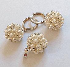 Sady šperkov - Svadobný set perlový - 7183631_