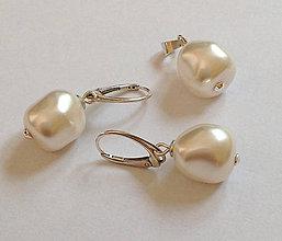 Sady šperkov - svadobný set perlový - 7183725_