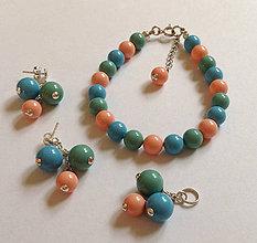Sady šperkov - Perlový set - 7184518_