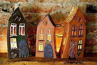 Dekorácie - Keramický domček veľký