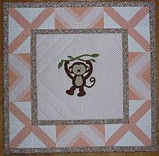 Textil - Deka pre deti - dva varianty (OPICA TEREZKA) - 7185699_