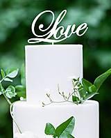 Darčeky pre svadobčanov - ozdoba na tortu - Love - 7184130_
