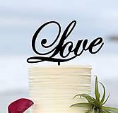 Darčeky pre svadobčanov - ozdoba na tortu - Love - 7184134_