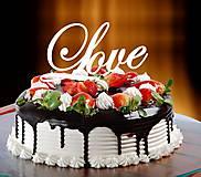Darčeky pre svadobčanov - ozdoba na tortu - Love - 7184135_