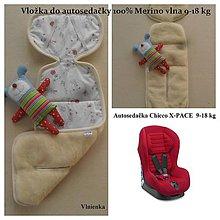 Textil - Vložka MERINO do Autosedačka Chicco X-PACE 2014/ 9-18 kg - 7185887_
