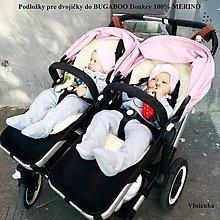 Textil - Bugaboo Donkey Twin podložky pre dvojičky 100% MERINO na mieru - 7186001_