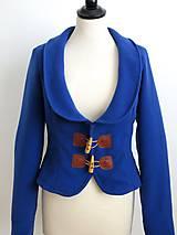 Kabáty - jesenný kabátik so záplatami - 7185406_