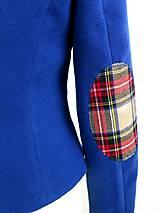 Kabáty - jesenný kabátik so záplatami - 7185408_
