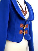 Kabáty - jesenný kabátik so záplatami - 7185411_