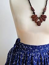 Sukne - zavinovacia folk sukňa - 7185521_