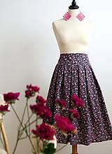 Sukne - romantická sukňa s kvietkami - 7185614_