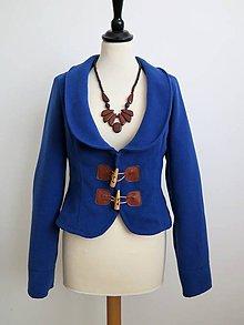 Kabáty - jesenný kabátik so záplatami - 7185409_