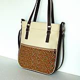 Veľké tašky - Basic - Zipp - Tmavohnedá s bodkami II. - 7182848_