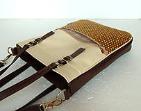 Veľké tašky - Basic - Zipp - Tmavohnedá s bodkami II. - 7182849_