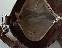 Veľké tašky - Basic - Zipp - Tmavohnedá s bodkami II. - 7182850_
