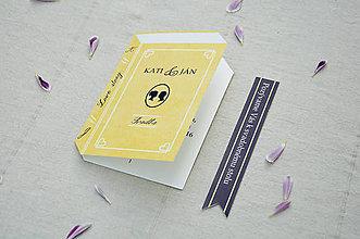 Papiernictvo - Svadobné oznámenie pre knihomoľov - 7185954_