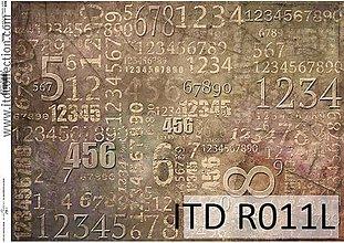 Papier - ryžový papier čísla - 7185286_