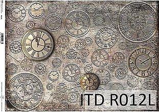 Papier - ryžový papier hodiny - 7185295_
