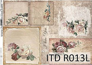 Papier - ryžový papier ruže - 7185305_