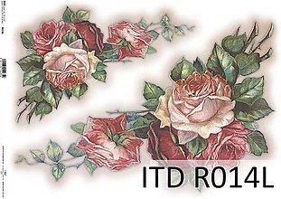 Papier - ryžový papier ruže - 7185340_
