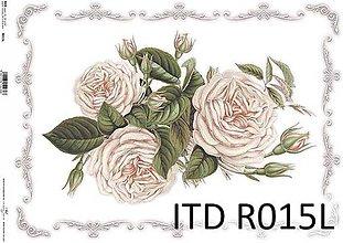 Papier - ryžový papier biele ruže - 7185343_