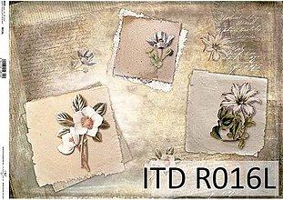 Papier - ryžový papier kvety - 7185345_