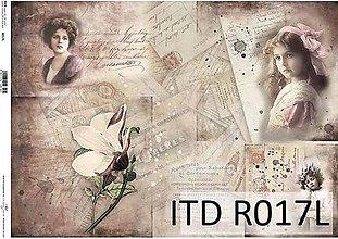 Papier - ryžový papier vintage dievčatá - 7185348_