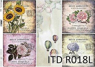 Papier - ryžový papier kvety - 7185353_