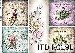 Papier - ryžový papier kvety - 7185356_