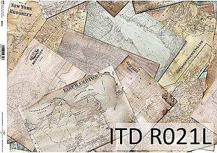 Papier - ryžový papier staré mapy - 7185367_
