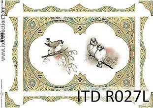 Papier - ryžový papier vtáčiky - 7185399_